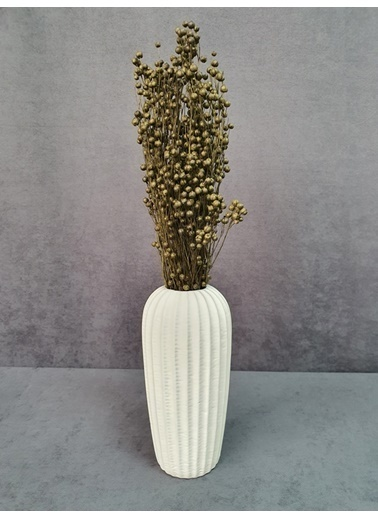 Kuru Çiçek Deposu Kuru Çiçek Keten Otu Demet 45 Cm Bordo  Yeşil